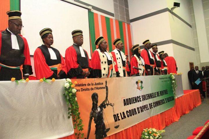 Installation et entrée solennelle de la Cour d'Appel de commerce d'Abidjan