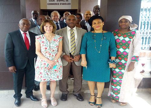 Formation sur les aspects économiques du droit de l'environnement à la Cour d'Appel de Commerce d'Abidjan.