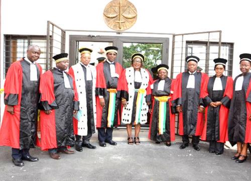 Audience solennelle d' installation du Conseiller ASSI Eunice Patricia épouse AYIE, le mardi 22 janvier 2019