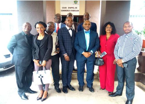Visite d'une délégation du Tribunal de Commerce de Conakry à la Cour d'Appel de Commerce d'Abidjan le jeudi 07 mars 2019