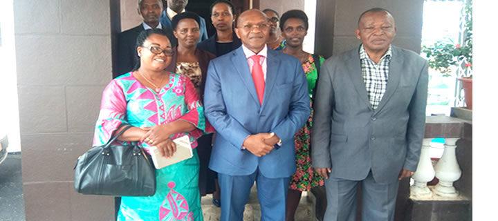 Visite d'une délégation du Tribunal de Commerce de Bujumbura (Burundi) à la Cour d'Appel de Commerce d'Abidjan le lundi 20 mai 2019