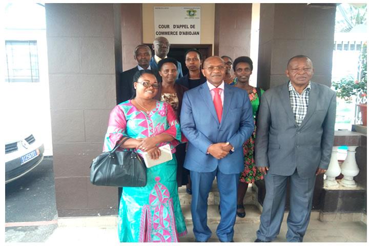 Visite d'une délégation du Tribunal de Commerce de Bujumbura (Burundi) à la Cour d'Appel de Commerce le lundi 20 mai 2019