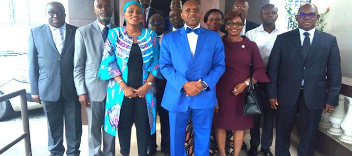 Visite de courtoisie des juges consulaires du Tribunal de Commerce d'Abidjan à la Cour d'Appel de Commerce le jeudi 13 avril 2019